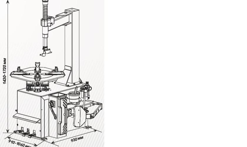 Шиномонтажный станок СИВИК КС-301A (380В)
