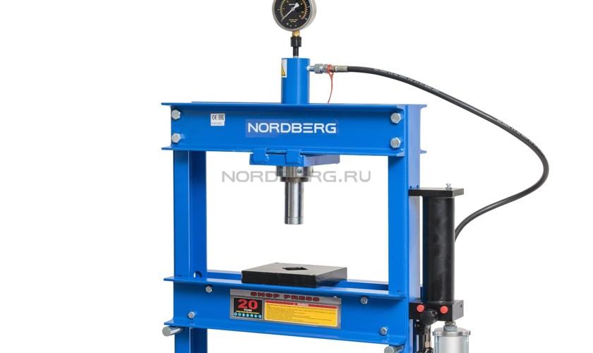 Пресс пневмопривод, усилие 20 тонн NORDBERG ECO N3620AL