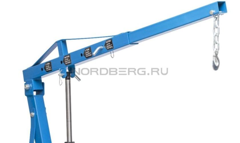 Кран гидравлический складной, г/п 2 т NORDBERG N3720