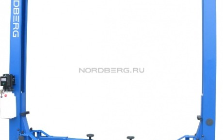 Подъемник 2-х стоечный с верхней синхронизацией, г/п 4 тонны (220В) NORDBERG N4120H2-4T