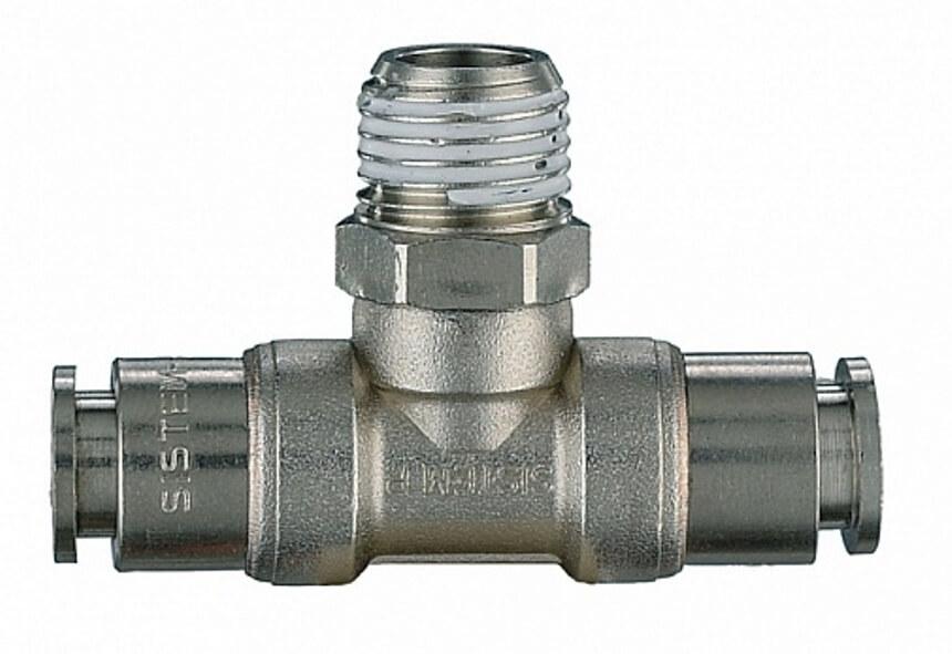 цанговое соединение Т-образное 50/DG d.8мм-1/4 M-d.8мм