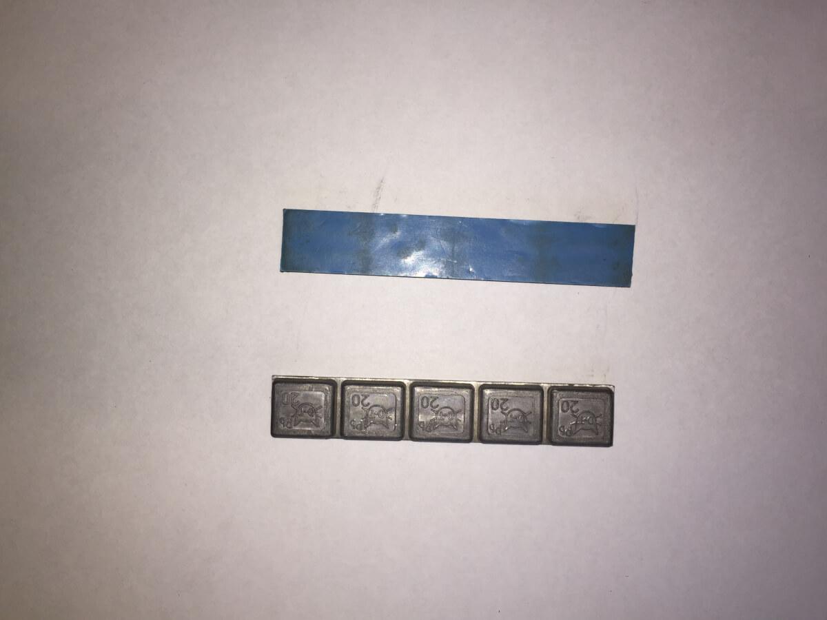 Грузик шиномонтажный для джипов, свинец уп. 25шт. 20*4.