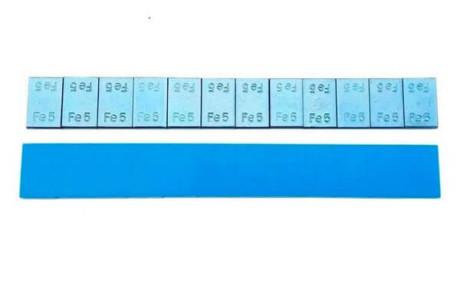 Груза для балансировки самоклейки ferrum стальной легковой 60гр, уп. 100шт. 5*5.