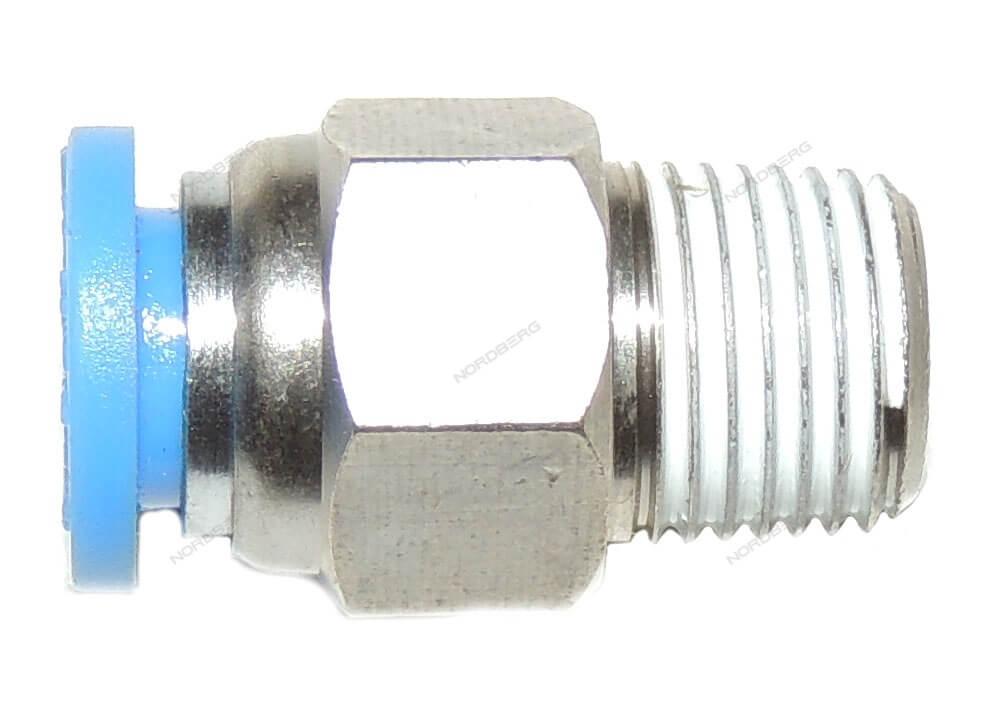 """Цанговый переходник для клапана прямой D6 1/8"""" для 4639 NORDBERG C.01.04.FPC 6-01"""