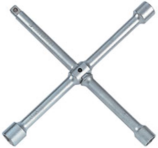 Ключ баллонный колесный крестообразный 1/2, 17, 19, 21 мм, разборный king tony