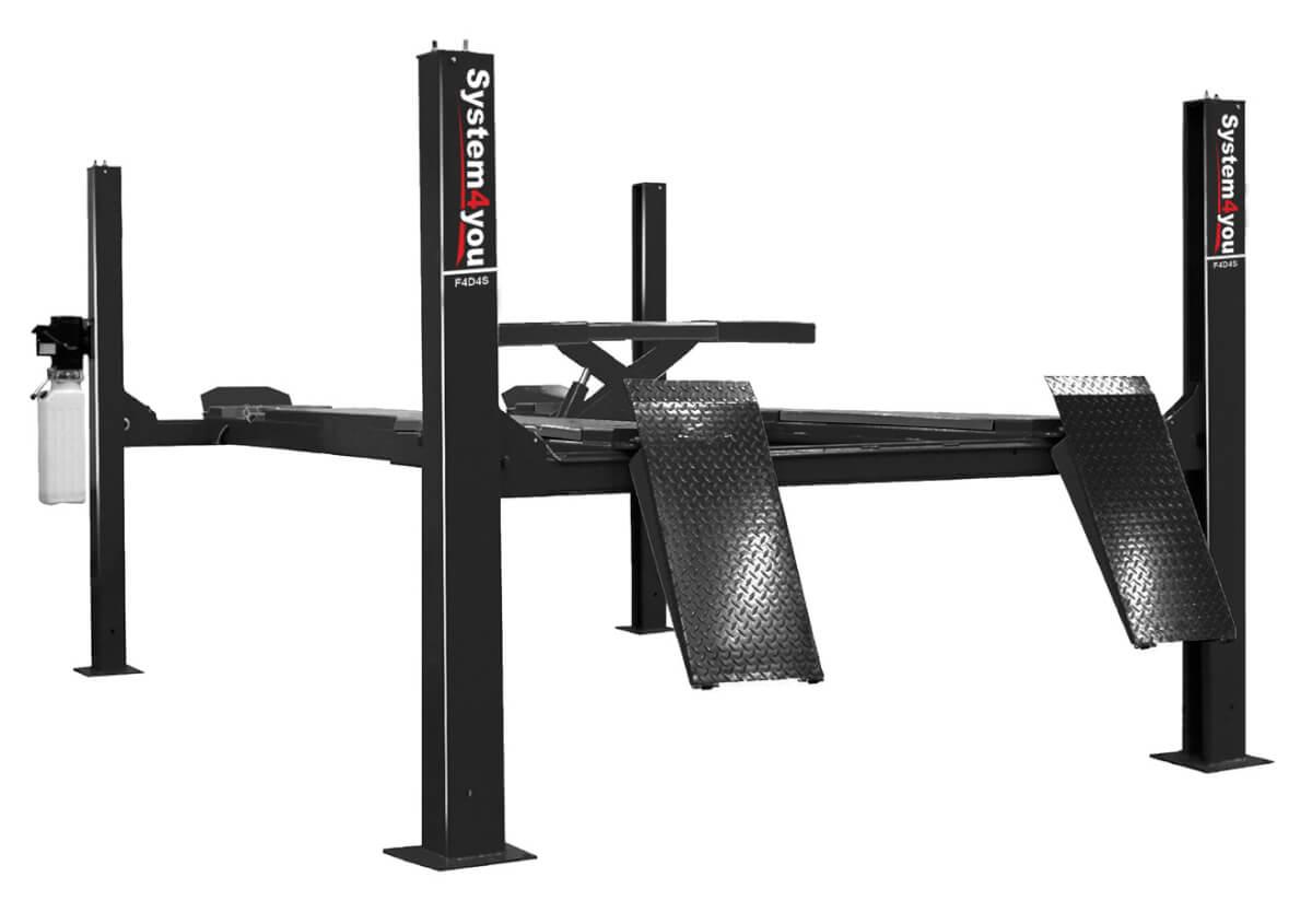Электрогидравлический подъемник System4you F4D4S (с траверсой под 3D стенды)